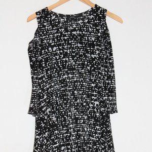 Alfani black/white tunic top